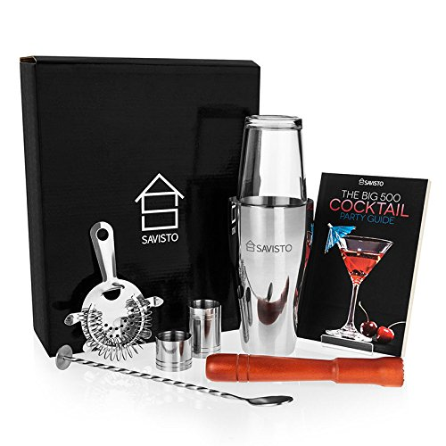 Savisto 8-Piece Cocktail Set with Gift Box (Mixing Drinks Set compare prices)