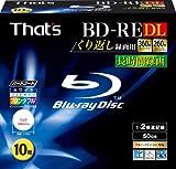 That's BD-RE DL くり返し録画用 1-2倍速 360分50GB 片面2層 ハードコート仕様 ワイドプリンタブル 5mmPケース10枚入 BREV50WWY10S