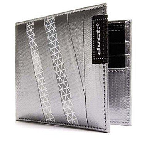 ducti-11101hb-hybrid-bi-fold-wallet-silve