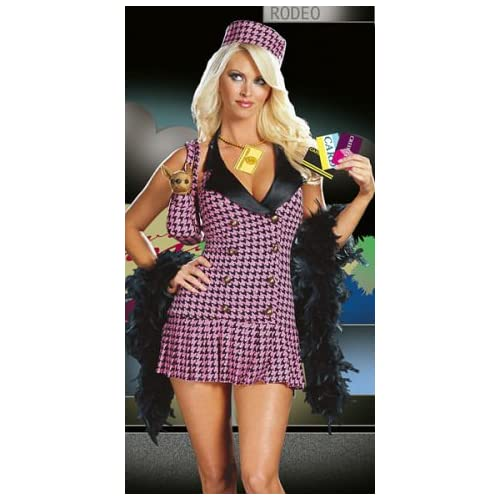 Sexy Woman in Shop-a-holic Costume Dress