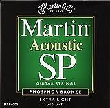 Martin マーチン アコースティックギター弦 SP Phosphor Bronze MSP-4000 .010-.047 エクストラライト 【国内正規品】