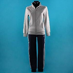 Adidas tuta donna grigio blu size 38 sports for Tuta adidas amazon