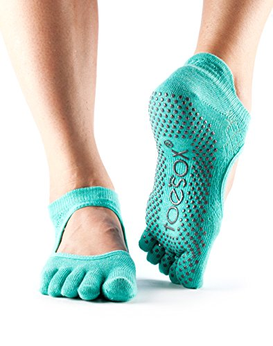 ToeSox Women's Bellarina Full Toe (Fishnet Lagoon) Medium