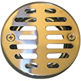 LASCO 03-1243 3-1/4-Inch with 2 Screws Shower Drain Grate, Chrome Plated