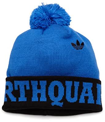 MLS San Jose Earthquakes, Cuffed Pom Knit Hat, One Size Fits All, Blue