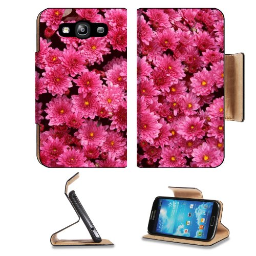 Bunches Magenta Mums Flower Small Pink Flowers Yellow Center Samsung Galaxy S3 I9300 Flip Cover Case With Card Holder Customized Made To Order Support Ready Premium Deluxe Pu Leather 5 Inch (132Mm) X 2 11/16 Inch (68Mm) X 9/16 Inch (14Mm) Liil S Iii S 3 P