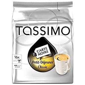 Buy Bosch Tassimo 'Carte Noire - Petit Dejeuner' 16 T Disc Coffee Machine Capsules (Pack of 1, 2, 3, 5 or 10) from Bosch
