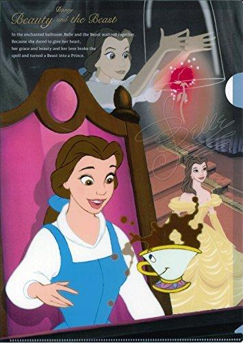 Delfino Disney 'e'hLM ART Beauty and the Beast A4Clear Folder DZ76800
