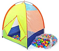 Pretend Camping Play Tent W/ Safety Meshing For Child Visibility & 300
