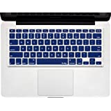 "Kuzy - NAVY BLUE Keyboard Cover Silicone Skin for MacBook Pro 13"" 15"" 17"" (with or w/out Retina Display) iMac and MacBook Air 13"" - Navy Blue"