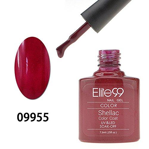Elite99 -Smalto UV LED Shellac Colore Gel Semipermanente-7.3ml-Sangria