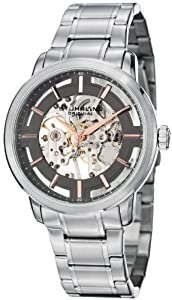 Stuhrling Original Men's 394.331154 Classic Winchester Pro Mechanical Hand Wind Skeleton Grey Dial Watch