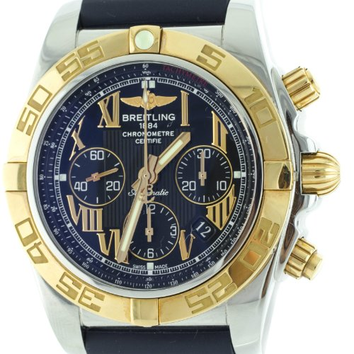 Breitling Windrider Chronomat Cb0110 8k Gold Stainless Still Men's Watch