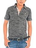(スペイド) SPADE ポロシャツ メンズ ワンポイント 刺繍 2枚襟 ボーダー ポロ 【w419】