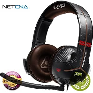 Y-350X 7.1 Powered DOOM Edition Gaming Headset Y-350X 7.1 Powered DOOM Edition Gaming Headset With Free 6 Feet NETCNA HDMI Cable - BY NETCNA