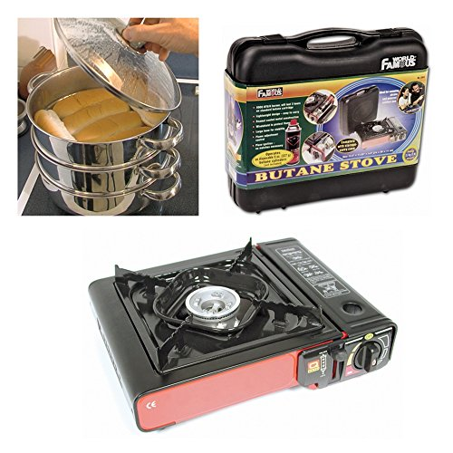 "Ballpark Hotdog Steamer Tailgating Or Camping Stove Cooker Kit........ ""12 Tasty Hot Dogs In Only 6 Minutes!"" When You Gotta Have A Hot Dog! ..................""You Gotta Have A Steemee Wonder!"" .....The Amazing Multi Cooker Steemee Wonder(Tm) Portable Bal"