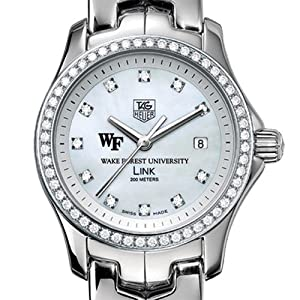 Wake Forest University TAG Heuer Watch - Women's Link with Diamond Bezel