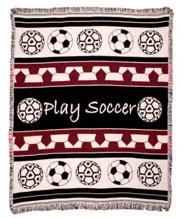 Play Soccer Woven Throw Blanket