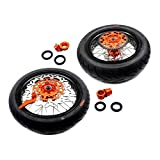KKE KTM 3.5/4.25 SUPERMOTO WHEEL SET WITH TIRE & DISC EXC SX XCW XCF 125 250 350 530