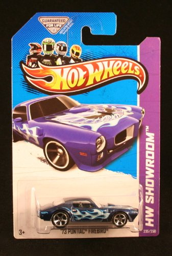 '73 PONTIAC FIREBIRD (BLUE) * HW SHOWROOM / MUSCLE MANIA * 2013 Hot Wheels Basic Car 1:64 Scale Series * Collector 235 of 250 *