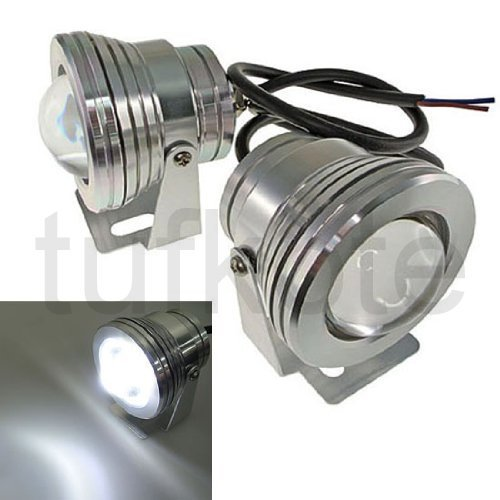 Tufkote LLED-10WP TufLed Super White High Power LED Projector Fog Lamp Light (Silver, 10W)