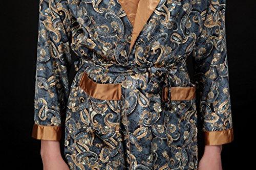 Waymoda Men\'s Luxury Silky Satin Evening Dressing Gown, Male Classic ...