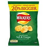 Walkers Salt and Vinegar Flavour Crisps 60g (Pack of 32)
