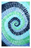 Blue Green Spiral Tie-Dye Tapestry – Hanging Wall Art – Great for Apartments, Dorms, Homes, and…