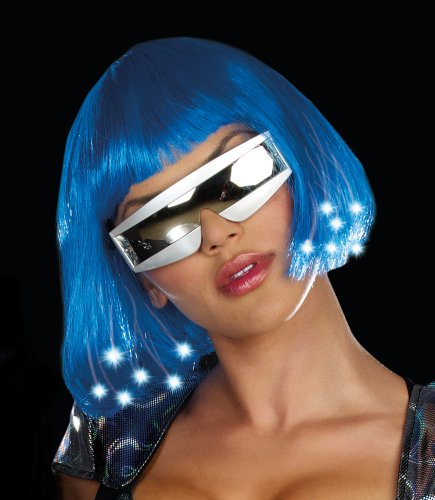 Dreamgirl Light Up Blue Wig Costume Accessory