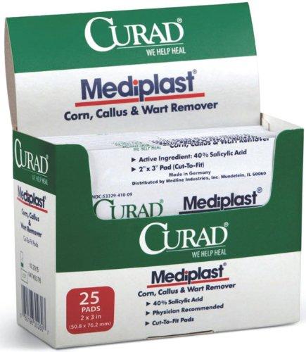 Curad MEDIPLAST, WART Pad, 2″X 3″ (10 Pack)