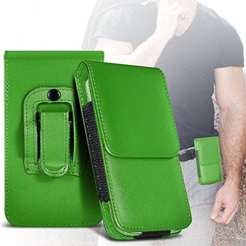 (Green) Samsung Rex 60 Schutz PU-Leder Gürtelholster Pouch Tasche Halter By ONX3