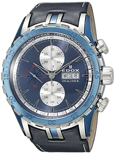 Edox Grand Ocean montre homme chronographe automatique 01121 357B BUIN