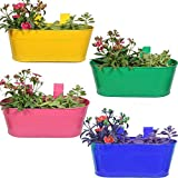 Trust basket Oval Planter Set of 4 Multi color 12*7 inches