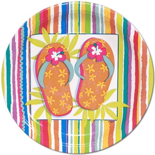 "Flip Flop Fun 9"" Plates : package of 8 - 1"