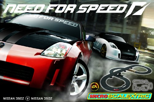 Micro Scalextric G1058 1:64 Scale (EA Games) Need For Speed Race Set