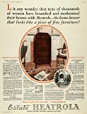 1927 Ad Estate Stove Co Heatrola Home Heater Appliance - Original Print Ad