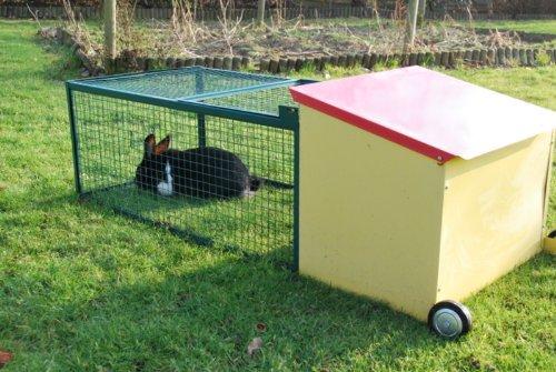 Cage lapin d 39 ext rieur avec abri couvert for Cage lapin exterieur
