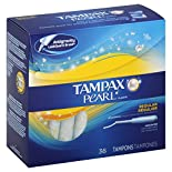 Tampax Pearl Plastic Tampons, Regular Absorbency, Unscented, 40 ct.
