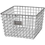Spectrum Diversified 47977 Storage Basket, Medium, Satin Nickel