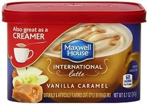 Maxwell House International Cafe-Style Beverage Mix Tub, Vanilla Caramel Latte, 8.7 Ounce