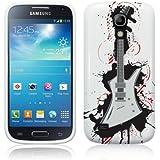 Cell Shell ® Samsung Galaxy S4 Mini i9190 / i9195 Case / Cover / Custodia / Skin TPU Gel - Disegno Chitarra Bianco