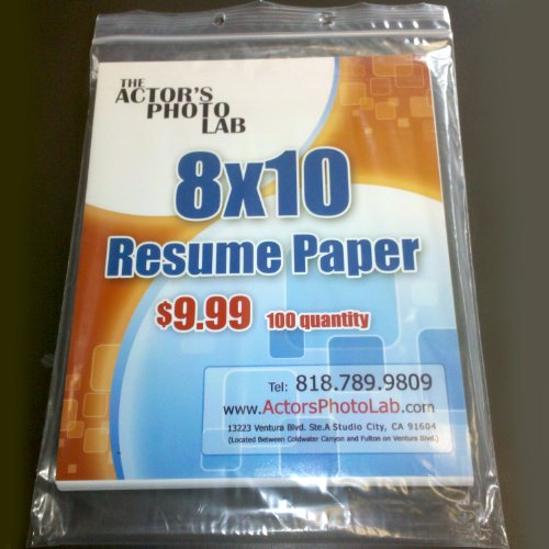 8x10 resume paper 100 sheets photos of actors actors