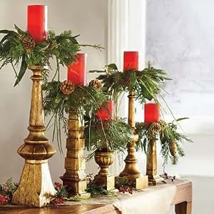 Amazon.com - Set of Five Brown Candle Rings - Grandin Road ...
