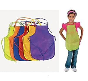 12 Pack Assorted Children's Artists Aprons Kitchen Classroom