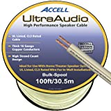 Accell B109B-100F UltraAudio Speaker Cable, 16-Gauge CL3-rated 100ft / 30m