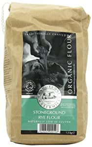 Bacheldre Watermill Organic Stoneground Rye Flour 1.5 kg (Pack of 4)