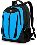 SwissGear Lightweight Feature Laptop Computer Backpack SA3077 (Black/Blue) Fits Most 15 Inch Laptops