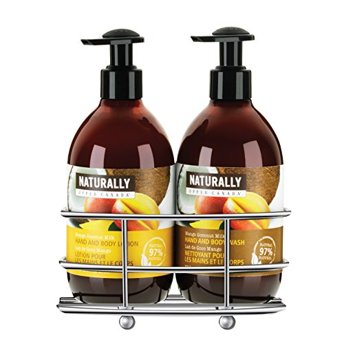 Upper Canada Soap Naturally Hand Wash and Lotion with Caddy Gift Set, Mango Coconut Milk (Naturally Upper Canada Lotion compare prices)