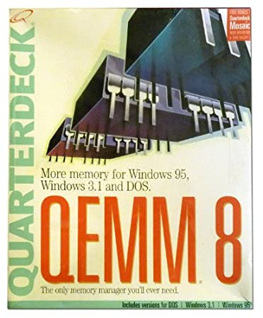 Quarterdeck Qemm 8 More Memory for Windows 95, Windows 3.1 and Dos