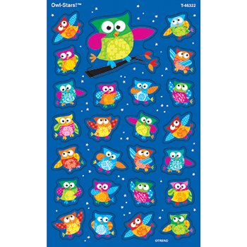 Trend Enterprises Inc Colored Owl superShapes Stickers 46322 - 1
